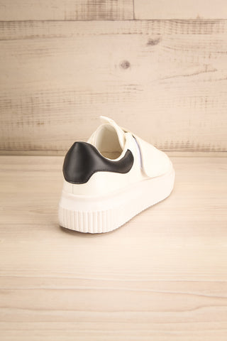 Harley White & Black Matt & Nat Sneakers back view | La Petite Garçonne