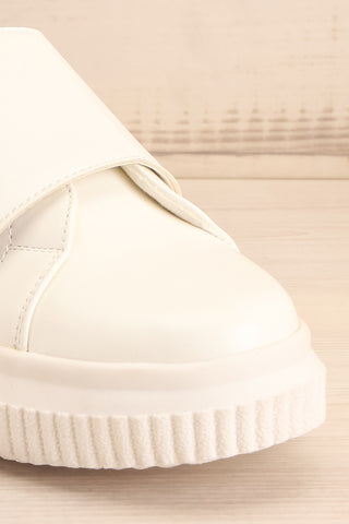 Harley White & Black Matt & Nat Sneakers front close-up | La Petite Garçonne