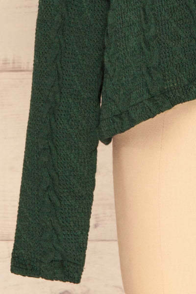 Hellen Forest Green Cropped Knit Sweater | La petite garçonne bottom