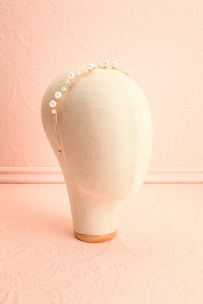 Henrianne Golden Headband with Pearl Ornamentation | Boudoir 1861