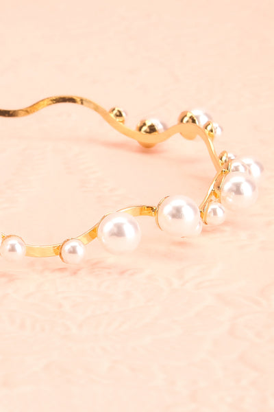 Henrianne Golden Headband with Pearl Ornamentation flat close-up | Boudoir 1861