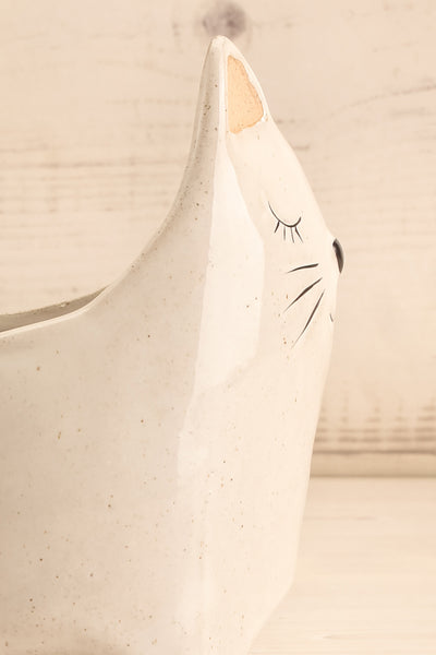 Here Kitty Planter Ceramic 2 Options | La petite garçonne side close-up