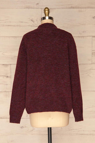 Herning Burgundy High-Neck Knit Sweater | Boutique 1861 back view