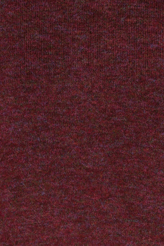 Herning Burgundy High-Neck Knit Sweater | Boutique 1861 fabric detail