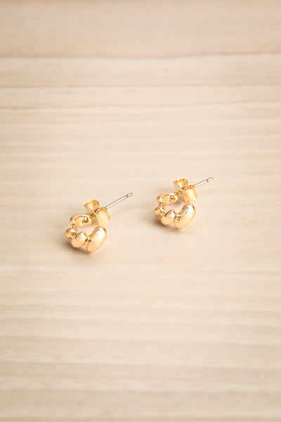 Hic Gold Twisted Stud Earrings | La petite garçonne