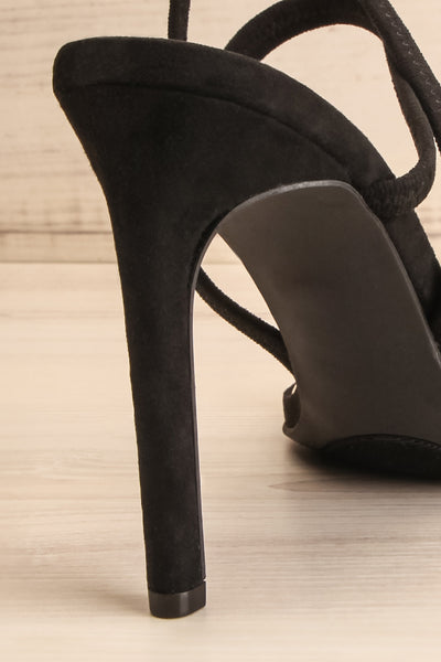 Hikari Black Sandals | Sandales Noires | La Petite Garçonne back close-up