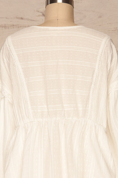 Hillerod White Blouse with Lace Details back close up | La Petite Garçonne