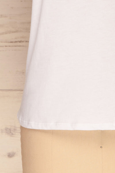 Himera White Sleeveless Shoulder Padded Top | La petite garçonne bottom