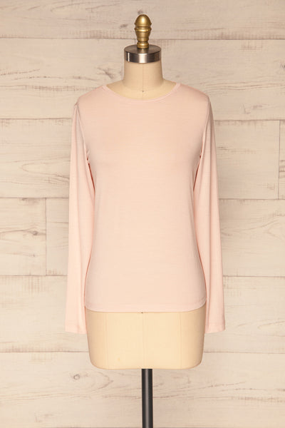Huddinge Light Pink Long Sleeved T-Shirt front view | La Petite Garçonne
