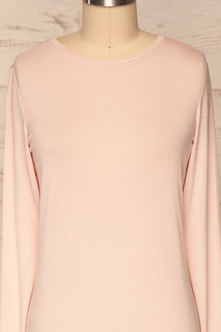 Huddinge Light Pink Long Sleeved T-Shirt front close up | La Petite Garçonne