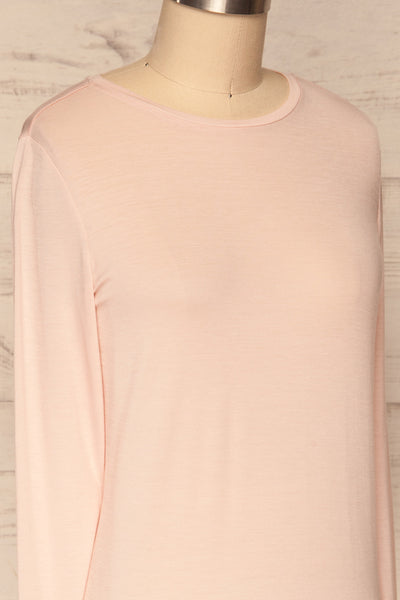 Huddinge Light Pink Long Sleeved T-Shirt side close up | La Petite Garçonne