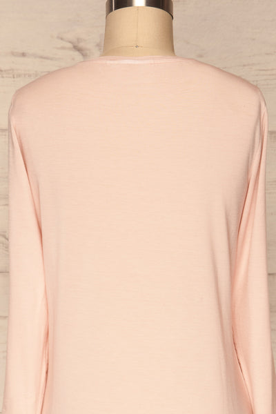 Huddinge Light Pink Long Sleeved T-Shirt back close up | La Petite Garçonne