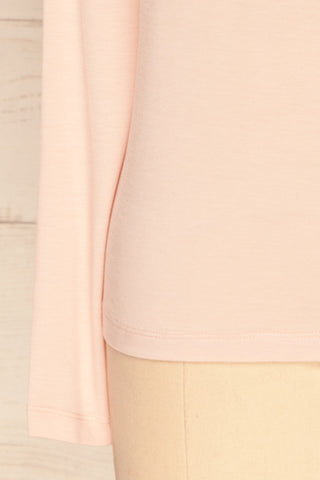 Huddinge Light Pink Long Sleeved T-Shirt sleeve close up | La Petite Garçonne