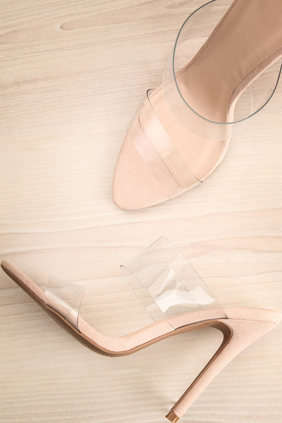 Humblot Clear Plastic Slip-On Heeled Sandals | La Petite Garçonne