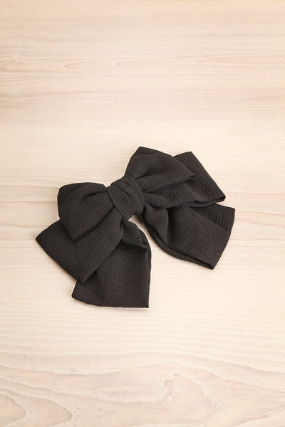 Idya Licorice Oversized Black Bow Hair Clip | Boutique 1861
