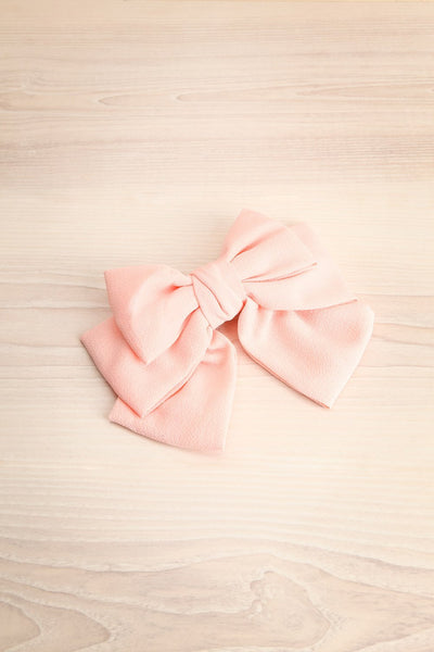 Idya Litchi Oversized Pink Bow Hair Clip | Boutique 1861