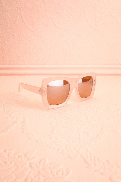 Illustris Pale Pink Butterfly Sunglasses side view | Boutique 1861