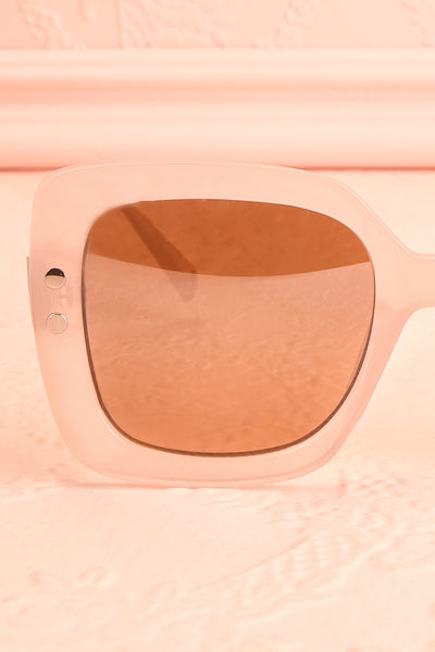 Illustris Pale Pink Butterfly Sunglasses close-up | Boutique 1861