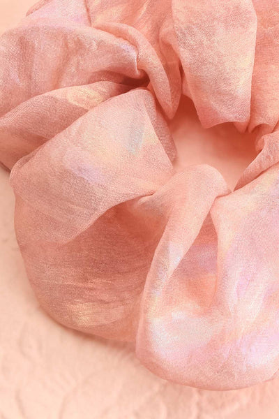 Indus Pink Iridescent Hair Scrunchie | Boutique 1861 close-up