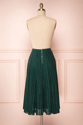 Irinushka Forest Green Lace A-Line Midi Skirt | Boutique 1861 back view