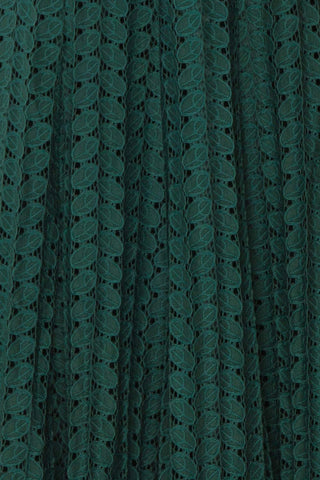 Irinushka Forest Green Lace A-Line Midi Skirt | Boutique 1861 fabric detail