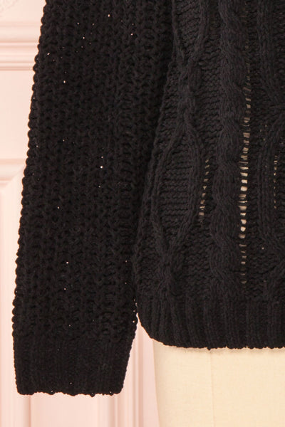 Irma Black Turtleneck Knit Sweater | La petite garçonne bottom