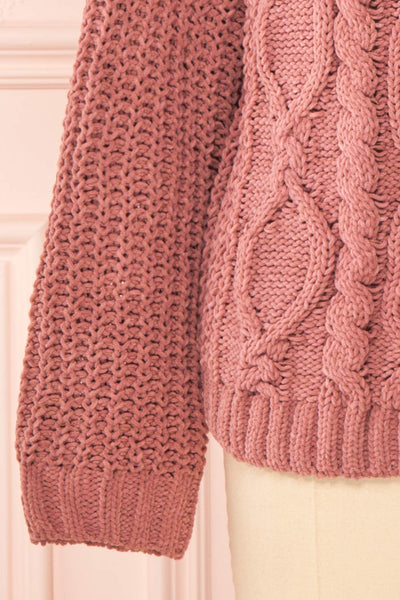 Irma Pink Turtleneck Knit Sweater | La petite garçonne bottom