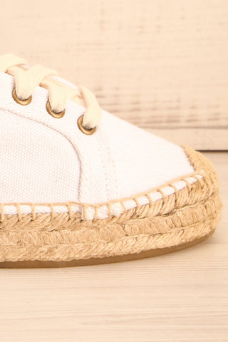 Istiria - White canvas platform sneakers