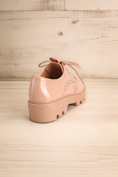 Itza Beige Pink Matt & Nat Oxford Shoes back view | La Petite Garçonne