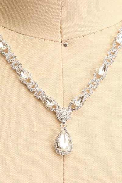 Jakobina Crystal Pendant Necklace | Boutique 1861 close-up