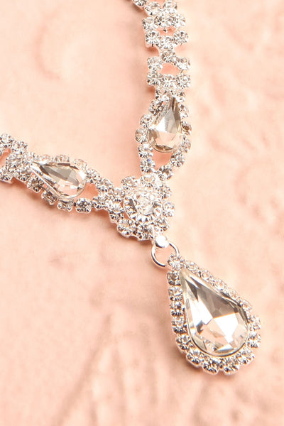 Jakobina Crystal Pendant Necklace | Boutique 1861 flat close-up