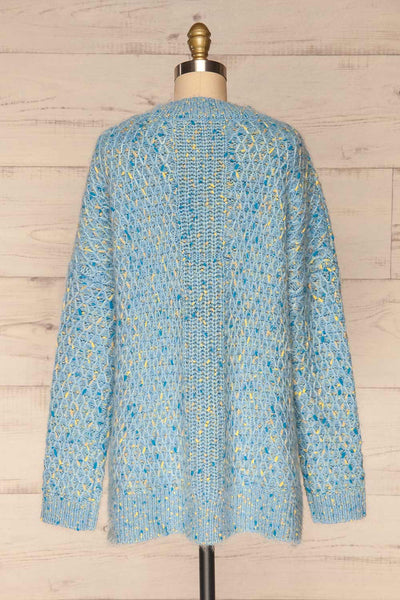 Janowiec Bleu Light Blue Oversized Knit Sweater | La Petite Garçonne back view