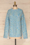 Janowiec Bleu Light Blue Oversized Knit Sweater | La Petite Garçonne