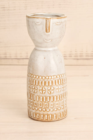 Janssen Small Speckled Grey Vase w Face close-up | La Petite Garçonne Chpt. 2