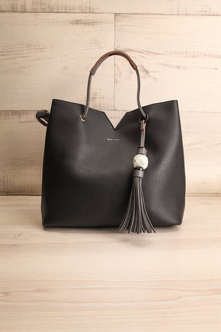 Jasmine Black Faux-Leather Pixie Mood Tote Bag | La Petite Garçonne
