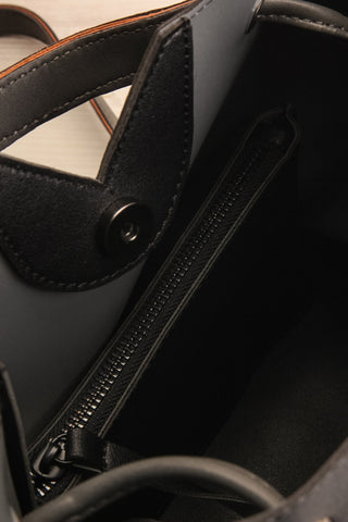 Jasmine Black Faux-Leather Pixie Mood Tote Bag inside close-up | La Petite Garçonne