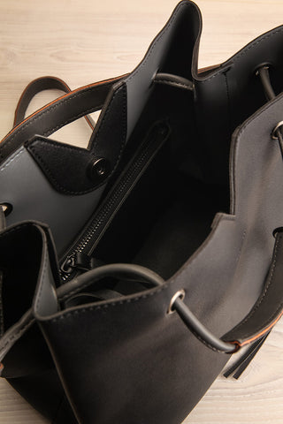 Jasmine Black Faux-Leather Pixie Mood Tote Bag inside view | La Petite Garçonne