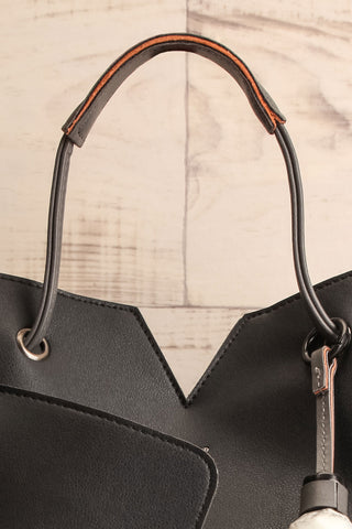 Jasmine Black Faux-Leather Pixie Mood Tote Bag wallet close-up | La Petite Garçonne