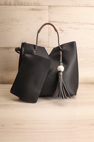 Jasmine Black Faux-Leather Pixie Mood Tote Bag wallet | La Petite Garçonne