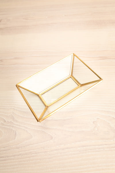 Jaucourt Golden Metal & Clear Glass Dish flat lay | La Petite Garçonne Chpt. 2