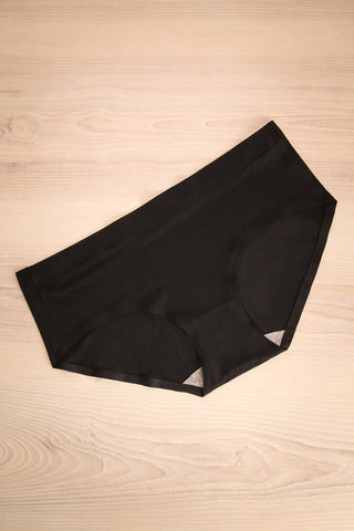 Jelsi Black - Black seamless underwear with a pattern of tiny holes