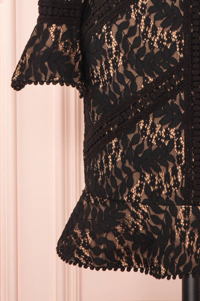 Jessamy Noire Lace Dress | Robe Cocktail | Boutique 1861 bottom close-up