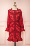 Jessamy Rouge Red Lace Cocktail Dress | Boutique 1861