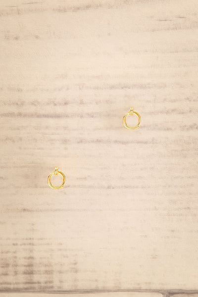 Jete Gold Circle Stud Earrings | La petite garçonne