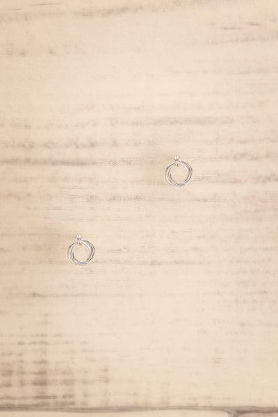 Jete Silver Circle Stud Earrings | La petite garçonne