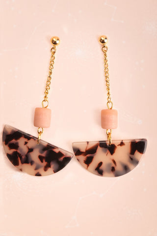 Joan Bennett Blush Marbled Pendant Earrings | Boutique 1861