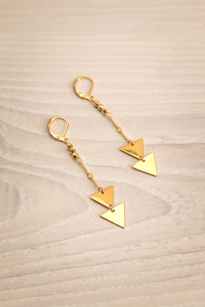 Jocelyn Bell Gold Pendant Earrings | La petite garçonne