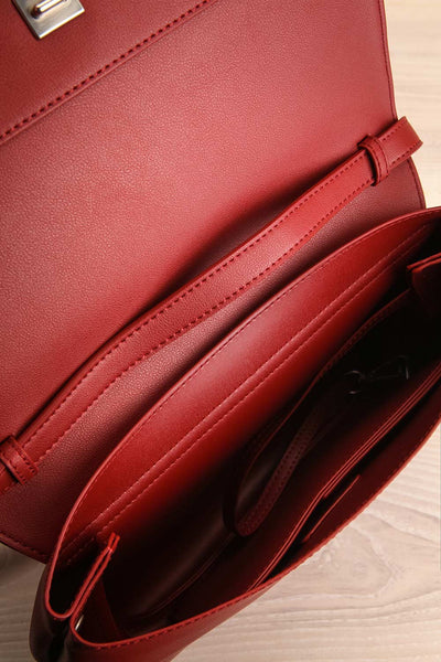 Jodith Red Faux-Leather Pixie Mood Handbag inside view | La Petite Garçonne