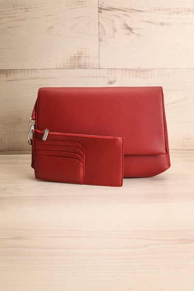 Jodith Red Faux-Leather Pixie Mood Handbag wallet | La Petite Garçonne