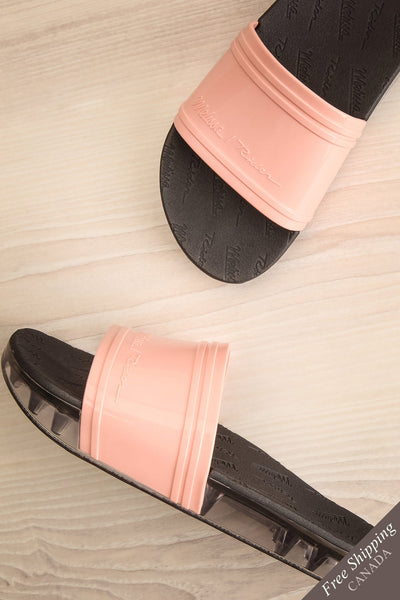 Joubert Blush & Black Slip-On Sandals | La Petite Garçonne Chpt. 2 1